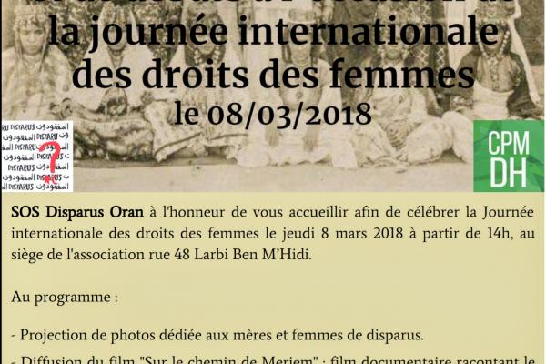 Collectif des Familles de disparus en Algérie — Journée Internationale des droits de la femme