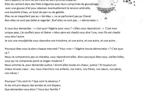 Collectif des Familles de disparus en Algérie — Mères courages