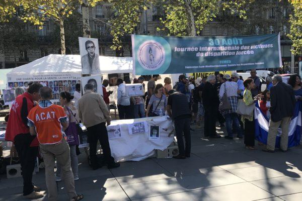 Collectif des Familles de disparus en Algérie — Rassemblement pour la journée internationale des victimes de disparition forcée