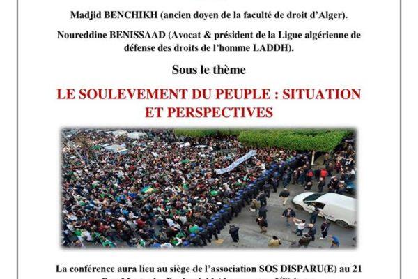Collectif des Familles de disparus en Algérie — Débat au tour du soulèvement du peuple algérien : situation et perspectives
